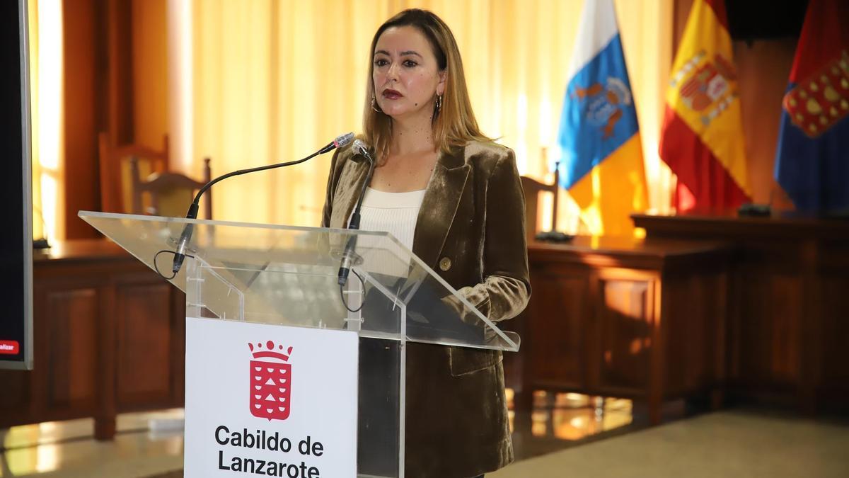 María Dolres Corujo durante la rueda de prensa.
