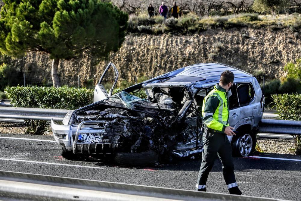 Un conductor en dirección contraria causa un accidente con dos muertos en la A-7 en Tibi