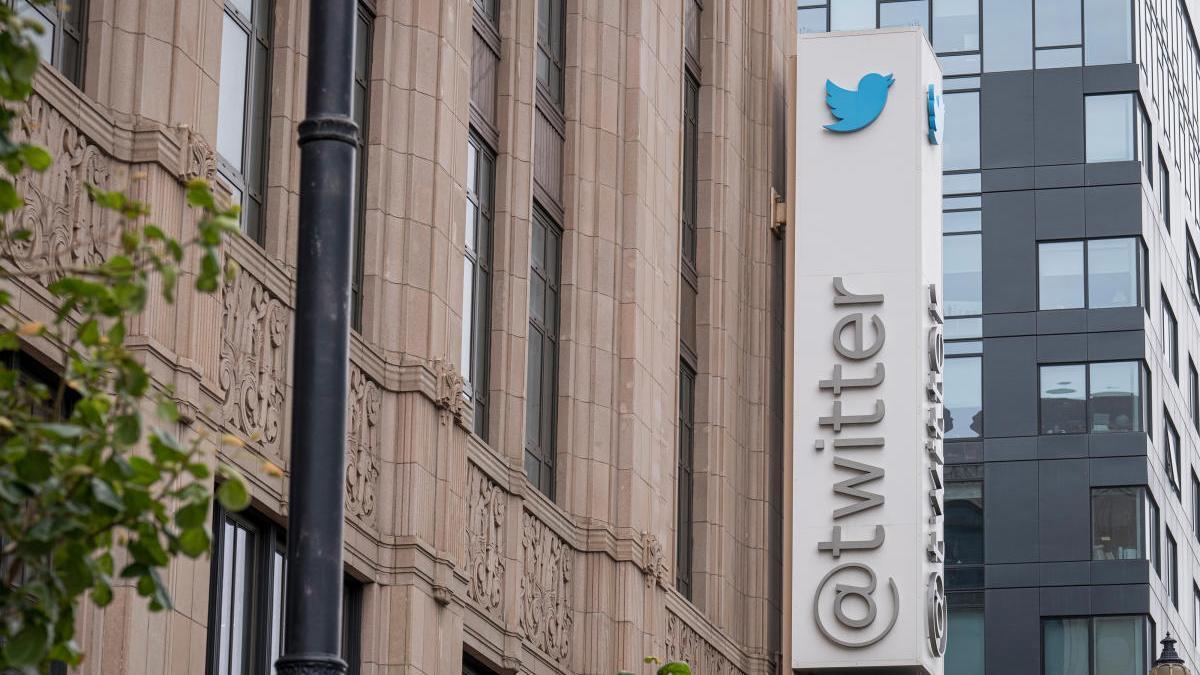 Una imagen de la sede de Twitter en San Francisco.