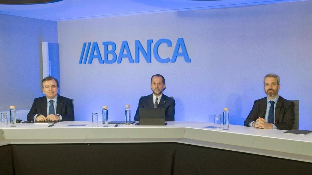 Presentación de resultados de Abanca durante el primer trimestre del año.