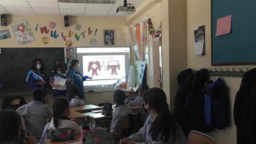El colegio Rosa Molas invita a donar órganos y sangre
