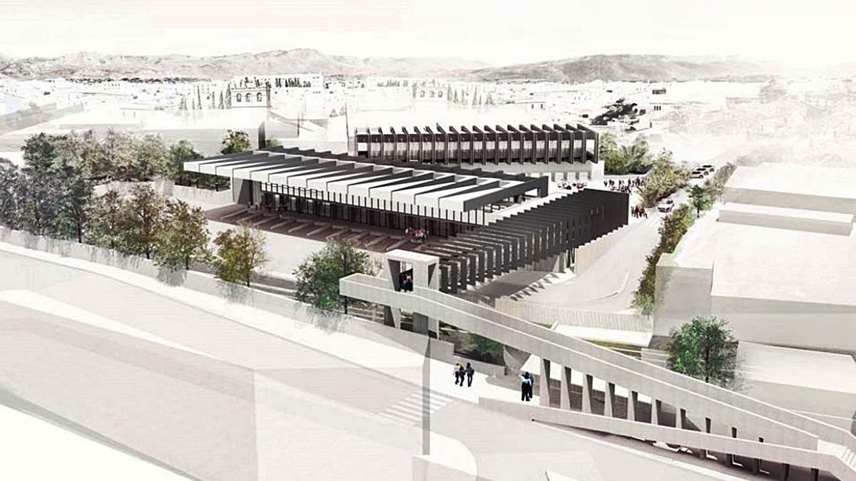 Imagen de cómo quedará el paso elevado sobre las vías del tren en Ronda. O.