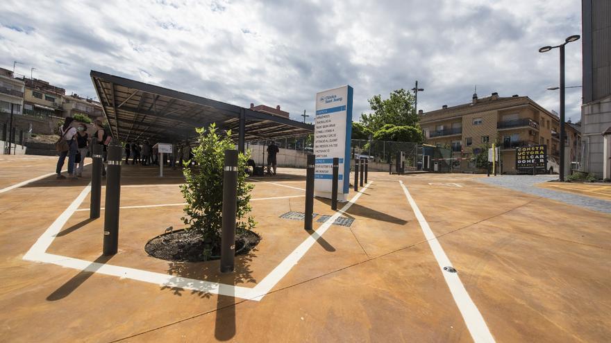 Així ha estat l'evolució del nou aparcament de la Clínica Sant Josep