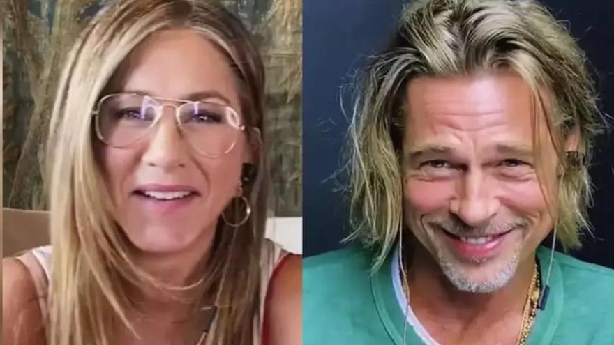 Jennifer Aniston y Brad Pitt tontean en su reencuentro