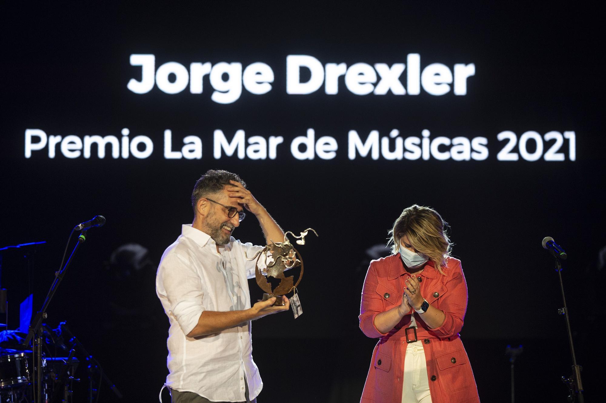 Jorge Drexler recibe el premio de La Mar de Músicas