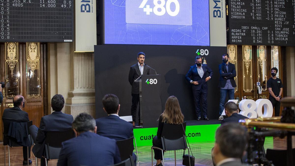 Imagen de la entrada de Cuatroochenta en los mercados de valores.