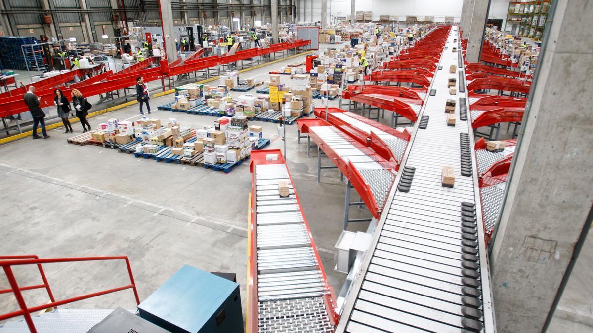 El centro logístico de Auchan en Villanueva, ahora en manos de ID Logistic.