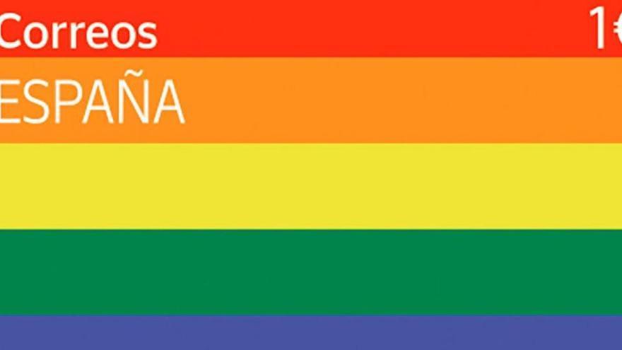 Correos lanza el primer sello LGTBI y pinta buzones con la bandera arcoíris