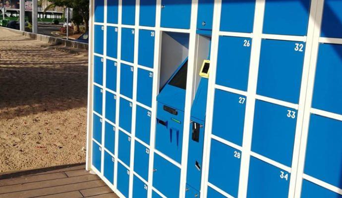 Instalación de taquillas en Las Teresitas.