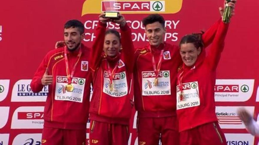 Víctor Ruiz se proclama campeón de Europa de cross por equipos mixtos