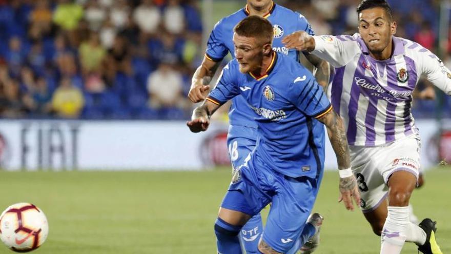 El Getafe se estrella contra la defensa del Valladolid