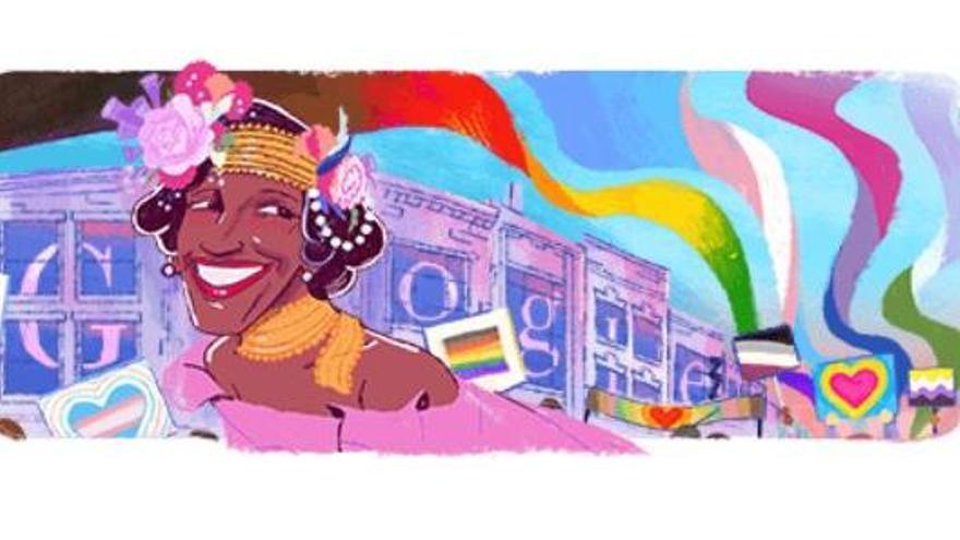 Google dedica su 'doodle' a Marsha P. Johnson, inspiradora del Orgullo LGTBI