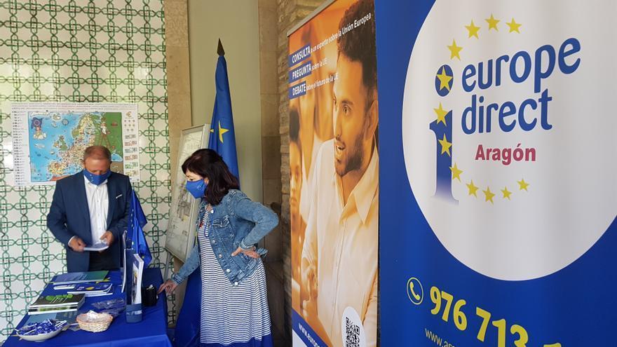 El Gobierno de Aragón celebra el Día de Europa con un stand informativo