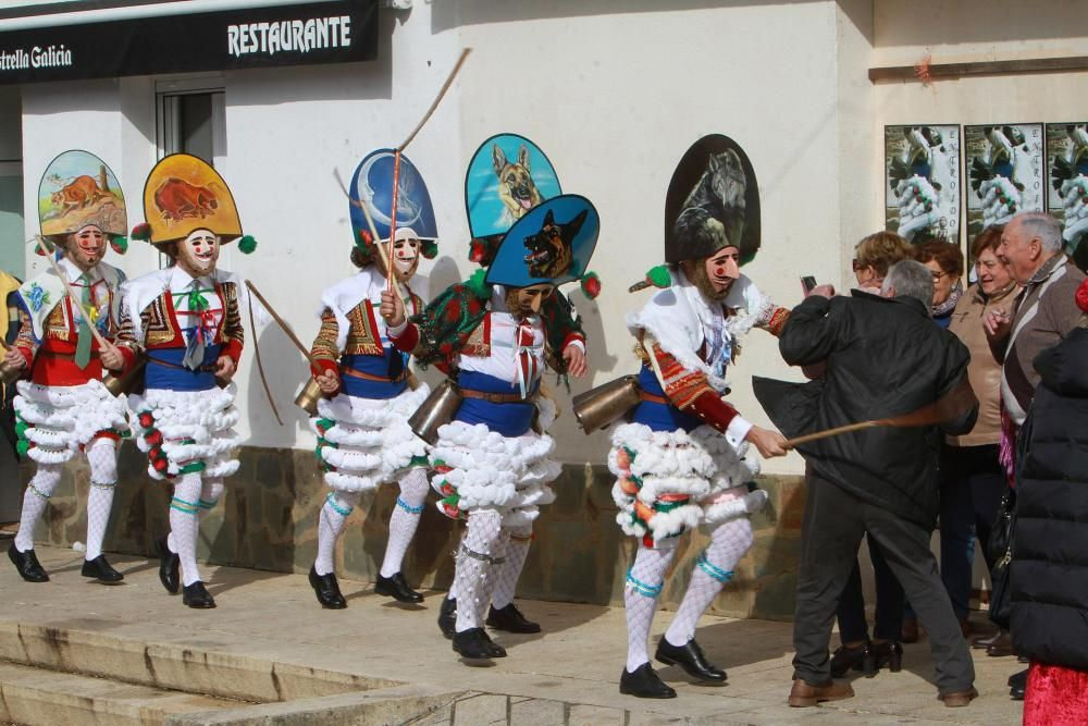 Los populares peliqueros de Laza llenaron las calles del municipio de ruido y travesuras.