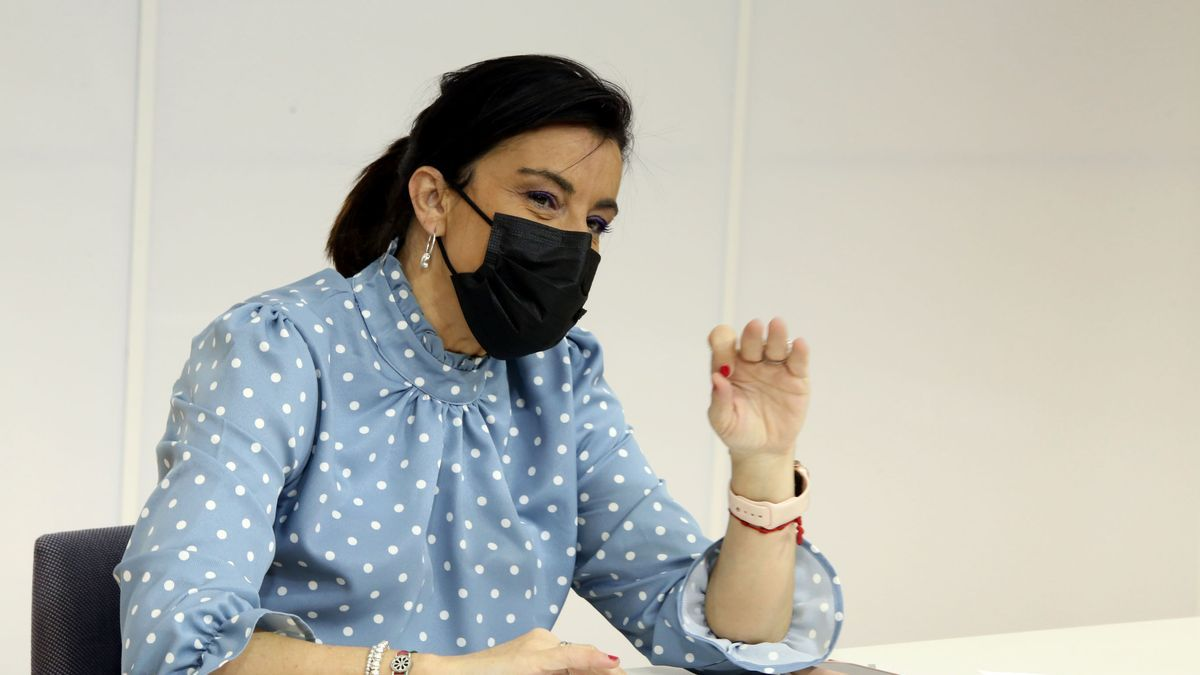 La secretaria de Organización del PSCyL, la zamorana Ana Sánchez, en rueda de prensa.