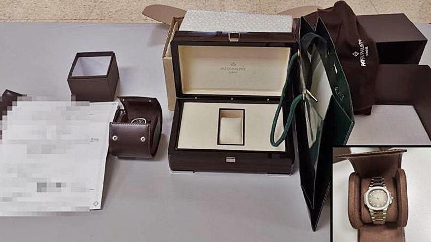 Confisquen un rellotge valorat en 28.000 euros a la Farga de Moles