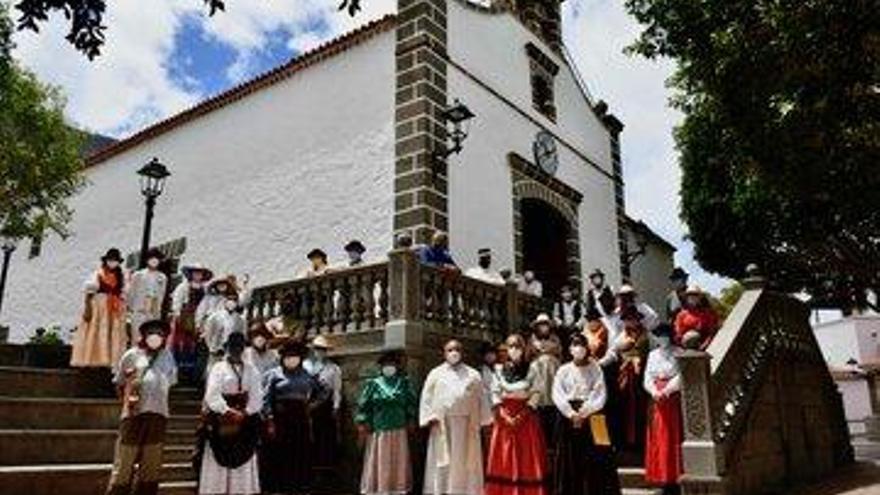 Mogán presenta ante San Antonio El Chico la tradicional ofrenda a su patrón