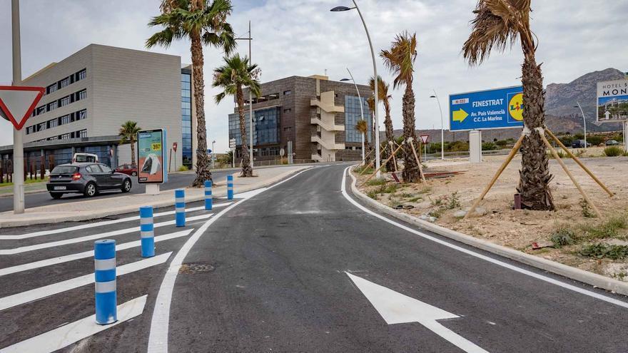 Benidorm abre el nuevo carril entre el Salt de l'Aigua con la N-332 y la autovía