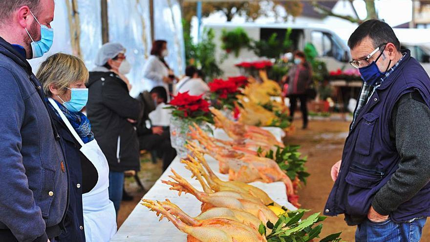 Las cenas reducidas afectan a la feria del gallo de corral en Meis