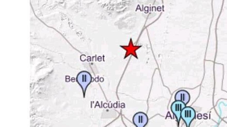 Un terremoto con epicentro en Alginet se deja sentir de madrugada en al menos cinco municipios