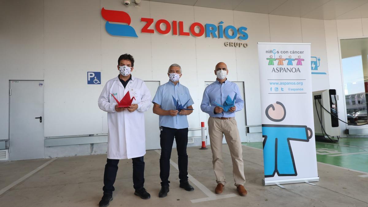 Alberto Jiménez, Juan Carlos Acín y Zoilo Ríos, de izquierda a derecha, durante la presentación del proyecto.