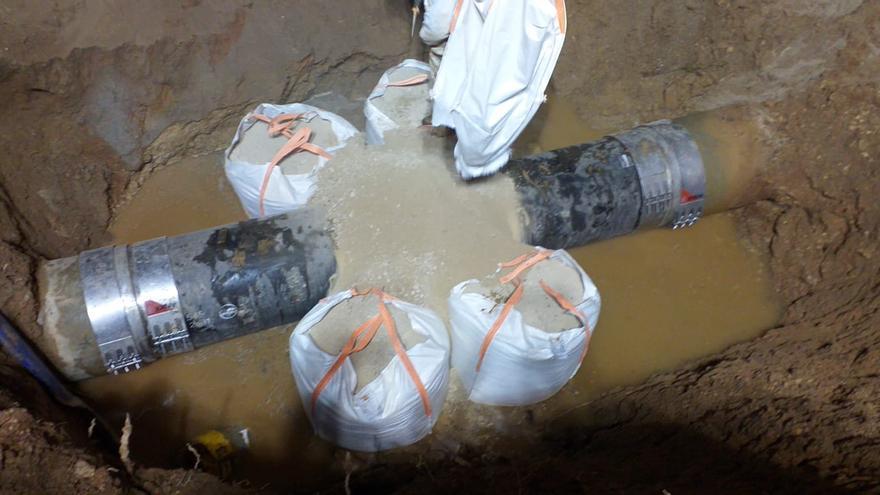 Reparada la avería que provocó el vertido de aguas residuales en es Portitxol
