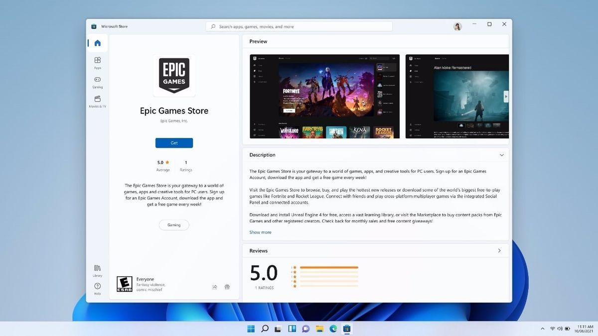 An image of the Windows Microsoft Store.