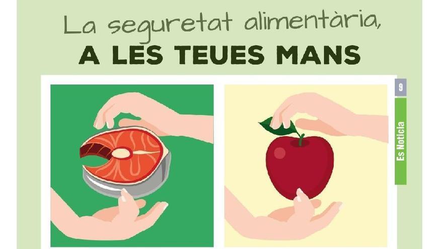 """Cartel de la campaña """"La seguridad alimentaria está en tus manos"""""""