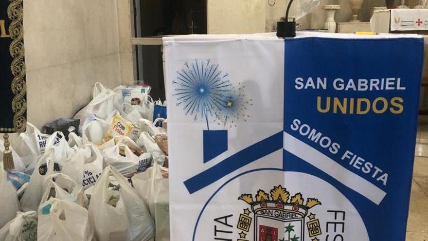"""Concluyen las """"no fiestas"""" de San Gabriel con una ofrenda solidaria de alimentos"""