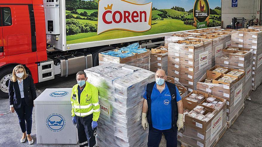 Coren aporta 320.000 raciones de alimentos en la crisis COVID