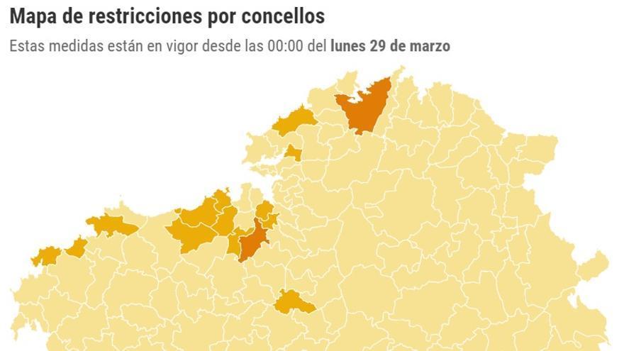Movilidad casi total dentro de Galicia en Semana Santa: las restricciones concello a concello
