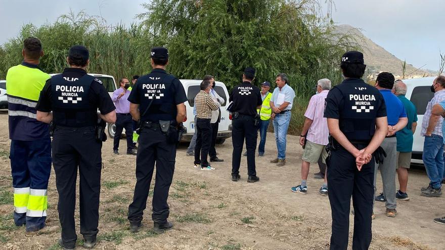 La Policía para las obras del entubamiento de la acequia Pitarque