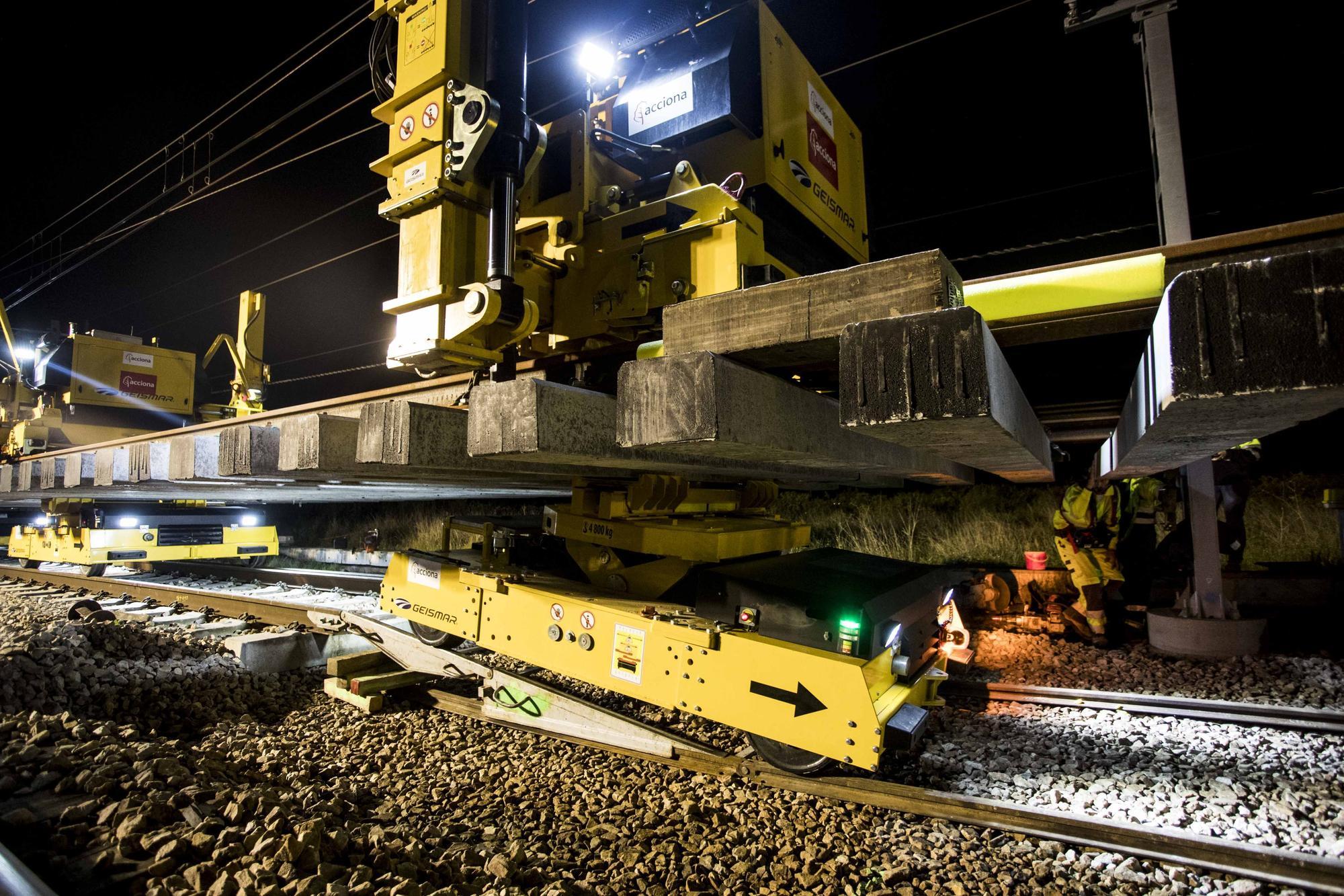 Las obras del tercer hilo en el corredor mediterráneo avanzan en la estación de Massalfassar