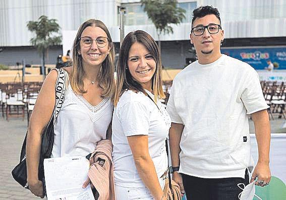 Xisca Vicens, Yoli Ruiz y Santi Correa.
