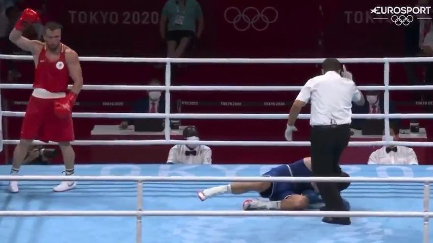 El KO que deja a Jalidov sin medalla