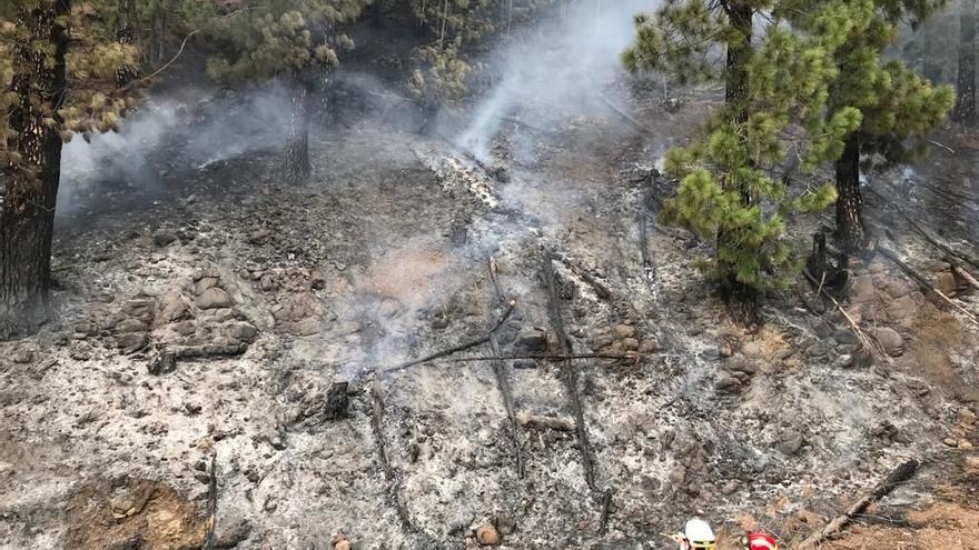 Investigan a un varón por un delito de incendio forestal en La Palma