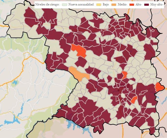 Localidades con casos COVID en los últimos 14 días