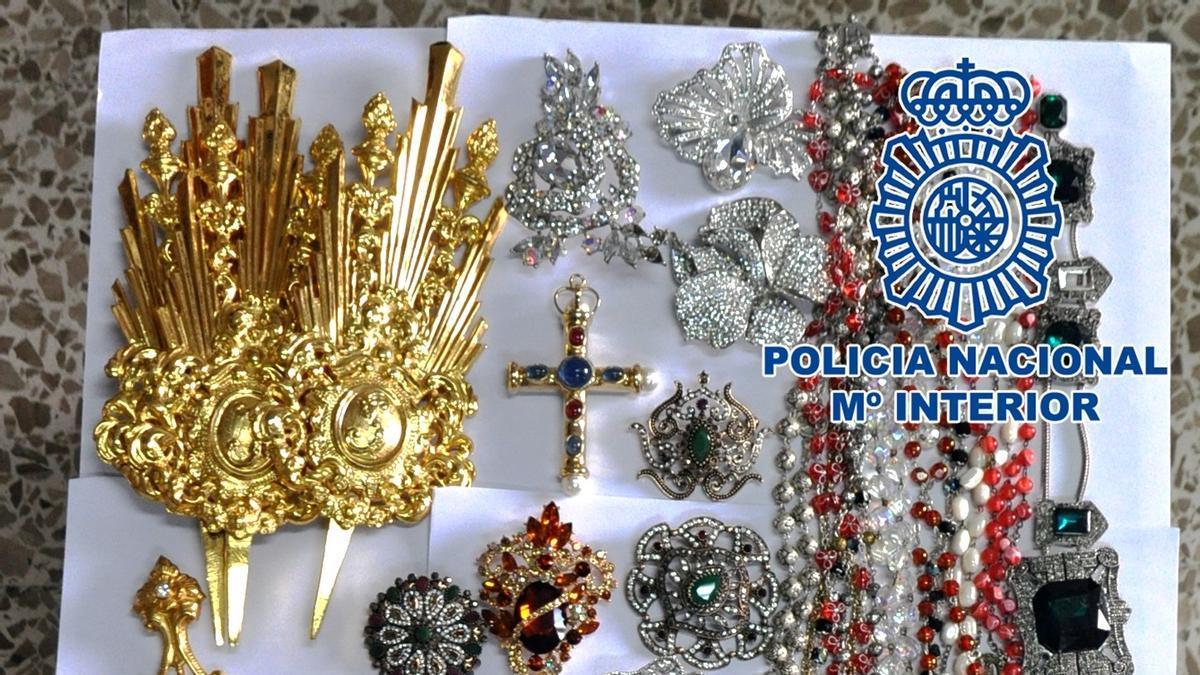 Objetos robados por el detenido en La Concepción.