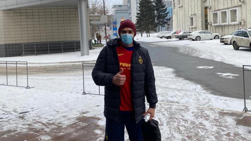 Javi García, bloqueado en Estambul