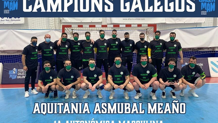 Aquitania Asmubal Meaño, campeón gallego de Primera Autonómica Masculina