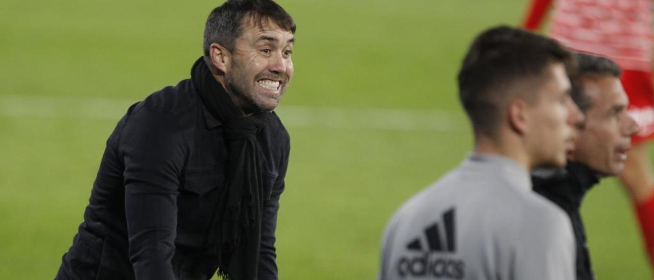 Chacho Coudet, durante el partido contra el Granada.