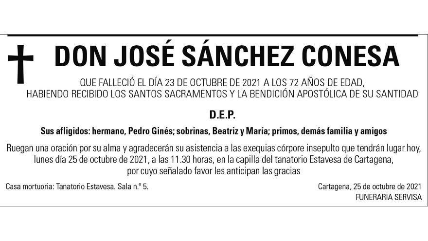 D. José Sánchez Conesa