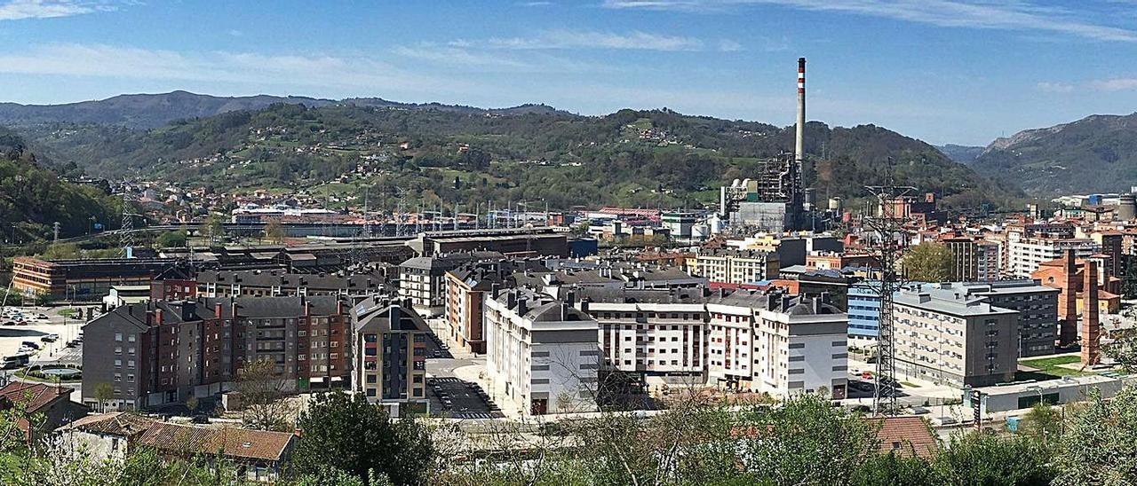 El barrio de Langreo Centro, en La Felguera, desarrollado en su mayor parte hace una década. | LNE