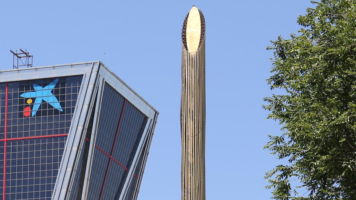 La sede nacional de Caixabank, a 8 de julio de 2021, en Madrid (España).
