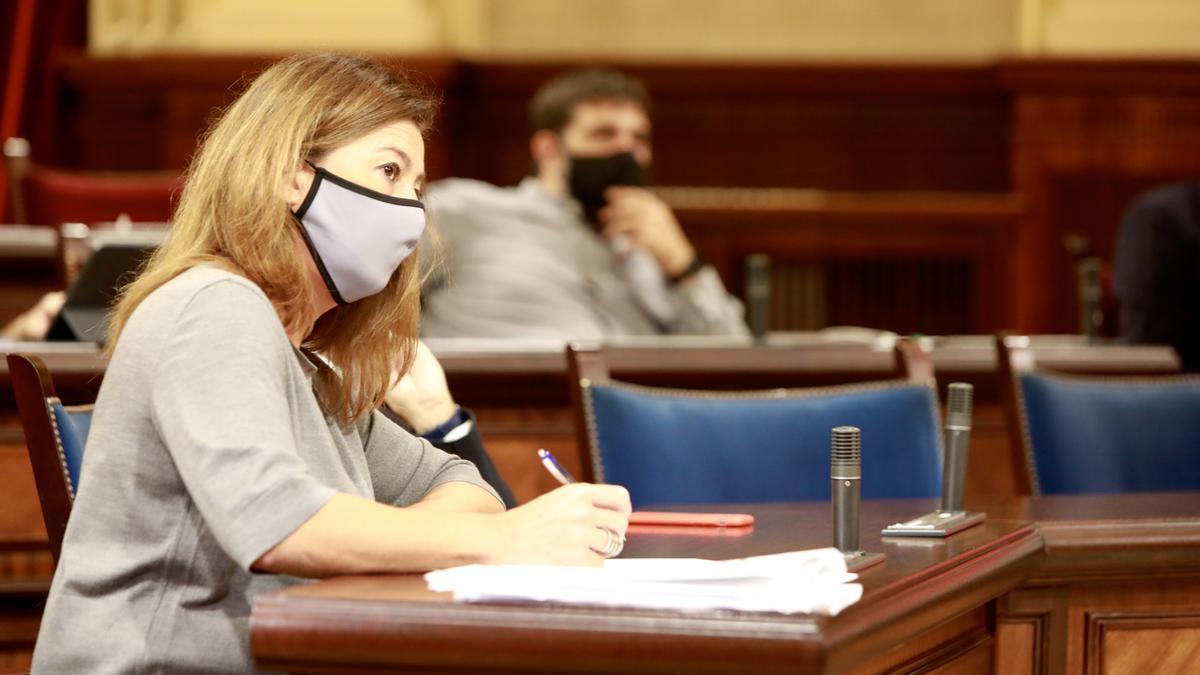 Francina Armengol en el debate de política general.