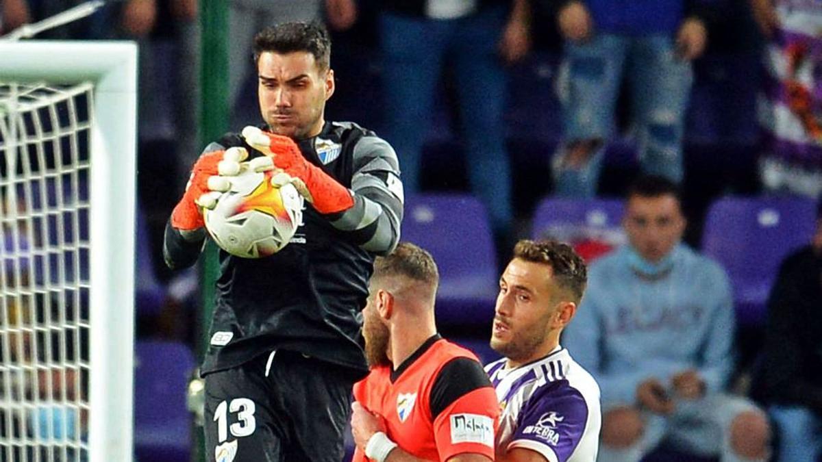 La actuación de Dani Martín en el José Zorrilla fue clave para que el Málaga CF sacara un punto