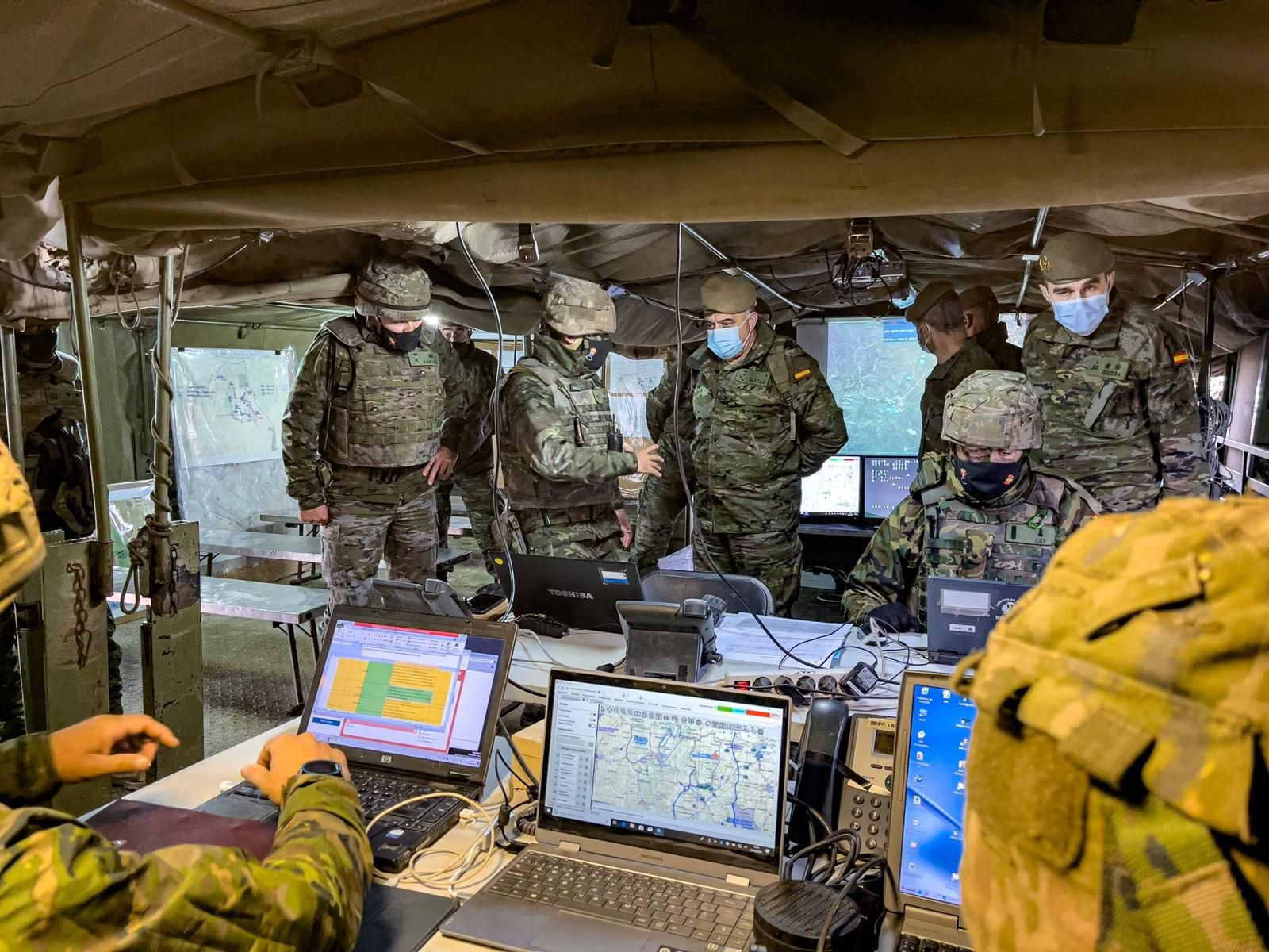 El Jefe de Estado Mayor del Ejército (JEME) asiste al ejercicio CANAREX 21