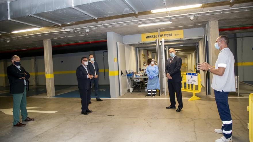 Sanidad habilita un punto rápido de toma de muestras para la Covid-19 en el Gran Canaria Arena