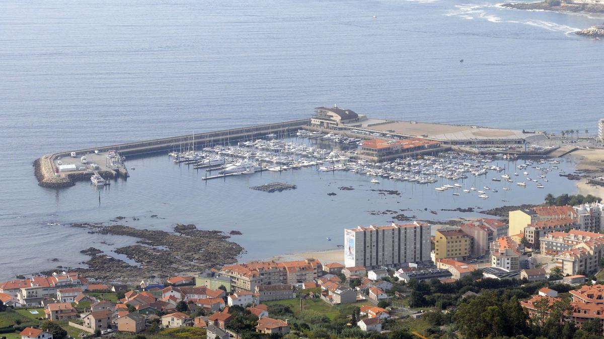 Vista del puerto deportivo de Sanxenxo