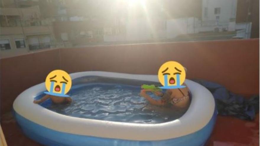 La divertida historia de la piscina hinchable perdida en Cullera y encontrada en San Vicente del Raspeig